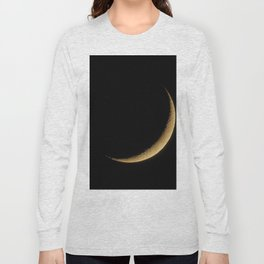 The Moon Sliver (Color) Long Sleeve T-shirt