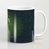 green arrow Mugs featuring Green Arrow by The Vector Studio