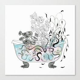 Octopus bathtub. Canvas Print
