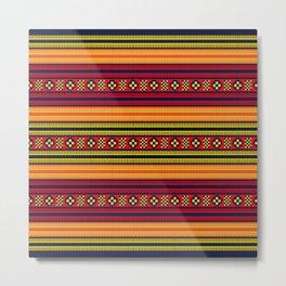 Native American Traditional Ethnic Tribal Indian Motif Pattern Metal Print