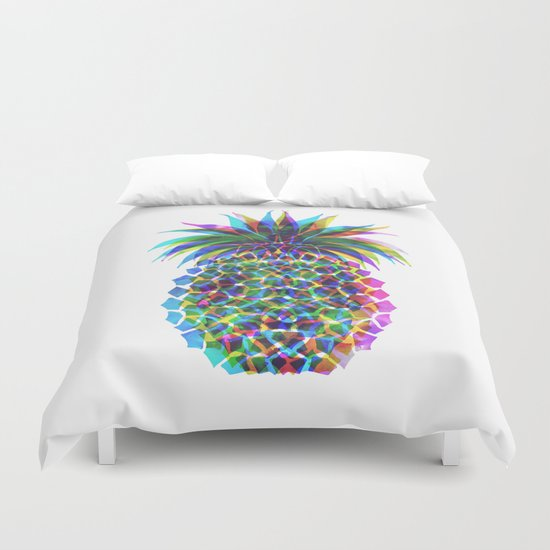 Pineapple CMYK Duvet Cover