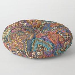 Crewel Jewel Floral by Nettwork2Design Nettie Heron-Middleton Floor Pillow