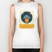 hedgehog Biker Tanks featuring Hedgehog by Ariel Wilson