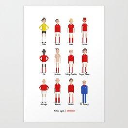England - All-time squad Art Print