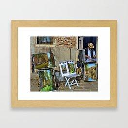 Venetian Artist Framed Art Print