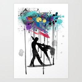 rain again  Art Print