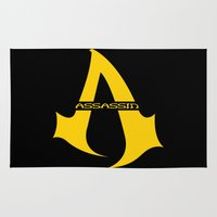 assassins creed Area & Throw Rugs featuring Assassins Clan by HuckBlade