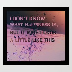 I don't know what happiness is Art Print