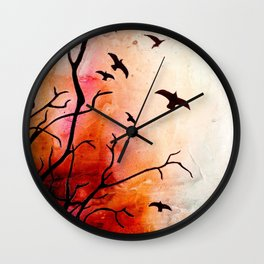 Birds flying Wall Clock