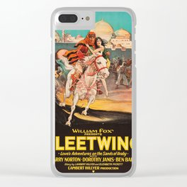 Fleetwing - Vintage 1928 American Silent Film Poster Clear iPhone Case