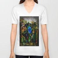 ukraine V-neck T-shirts featuring UKRAINE by lucborell