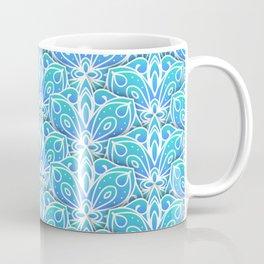 Decorative Layers of Blue Flowers Coffee Mug