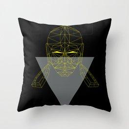 polygon head Throw Pillow