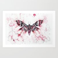 moth Art Prints featuring Moth by Nika Akin