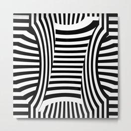 Retro Black And White Metal Print