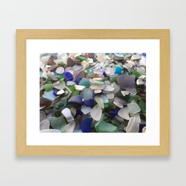 Sea Glass Assortment 2 Framed Art Print