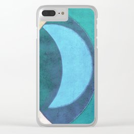 Waxing Crescent Clear iPhone Case