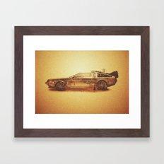 Lost in the Wild Wild West! (Golden Delorean Doubleexposure Art) Framed Art Print
