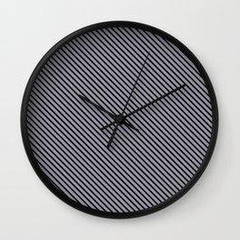 Lilac Gray and Black Stripe Wall Clock
