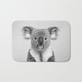 Koala 2 - Black & White Bath Mat