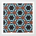 Crack in the Curtain - Abstract Kaleidoscopic Repeating Star Pattern by rmlstudios