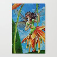 marianna Canvas Prints featuring Marianna - Heliconia Haute Couture by Lauralin Maynard
