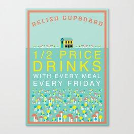 Half Price Drinks Canvas Print