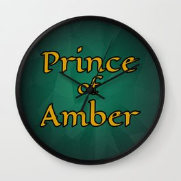 Prince of Amber Wall Clock