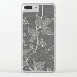 Dark vines Clear iPhone Case