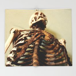 Foley Skeleton Throw Blanket