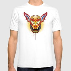 Yare Devil Mask White Mens Fitted Tee SMALL