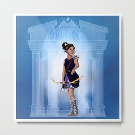 Greek Goddesses - Artemis Metal Print