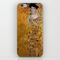 gustav klimt iPhone & iPod Skins featuring Adele Bloch-Bauer I by Gustav Klimt by Palazzo Art Gallery