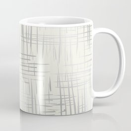 Crosshatch Silver Coffee Mug