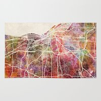 cleveland Area & Throw Rugs featuring Cleveland by MapMapMaps.Watercolors