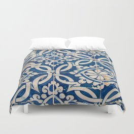 Vintage portuguese azulejo Duvet Cover