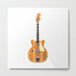 Hollow Body Guitar Metal Print