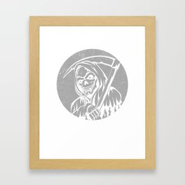 Blackcraft T-Shirt Grim Reaper Gift Framed Art Print
