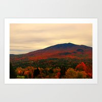 alisa burke Art Prints featuring Burke Mountain View From The West by FlatlandersViewOfVT