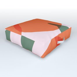 Simple Oranges Pattern Version 2 Outdoor Floor Cushion