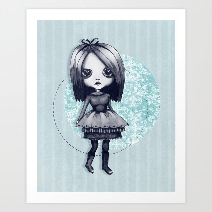 Gothy Girl Art Print