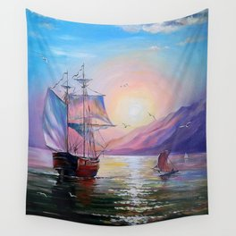 Returning to her native bay Wall Tapestry