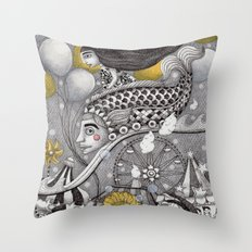 Roller Coaster Ride Throw Pillow