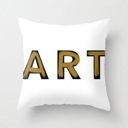 Minimalist Art Gold Brush Strokes Throw Pillow