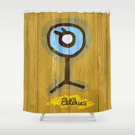 Simbologia Tribal 10 / Canary Islands Shower Curtain