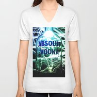 vodka V-neck T-shirts featuring Absolut Vodka by Rothko