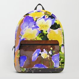 Blue and Yellow Pansies Backpack