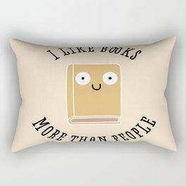 I Like Books Rectangular Pillow