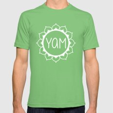 Yam—Heart Chakra Mantra Mens Fitted Tee SMALL Grass
