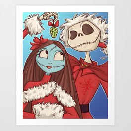 Sally and Jack Art Print